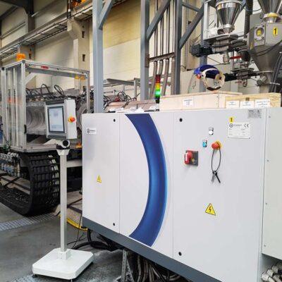 Zephyr extruder for plastics, Tecnomatic